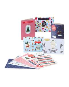 Christmas Card Making Kit (Enough For 52 Cards) £4.99 Delivered @ Aldi [Pre Order Online Now Or Instore From 5/11]