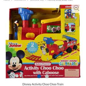 Disney Mickey Mouse or Minnie Mouse Battery powered ride on train and track (£4.99 Delivery) @ Sports Direct