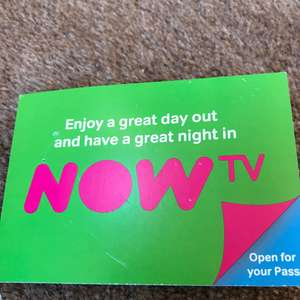 Free Now TV Pass when visiting Sealife Centre (Loch Lomond-poss nationwide?)