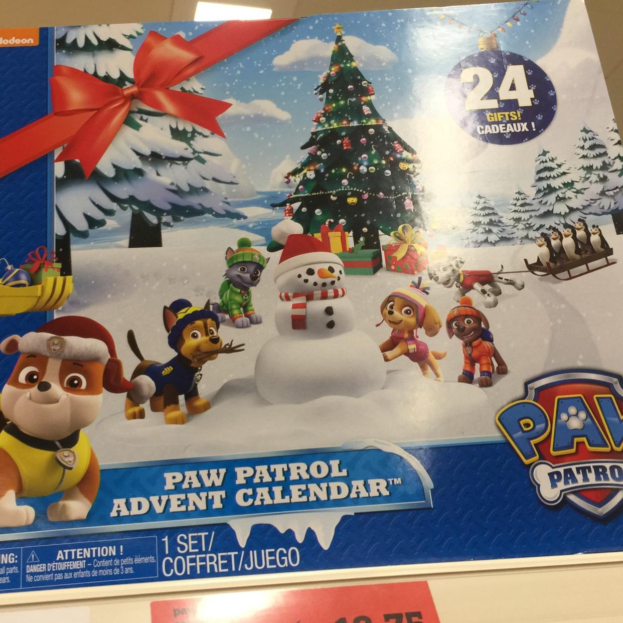 Paw patrol advent calendar £18.75 @ Sainsbury's Cheshire oaks