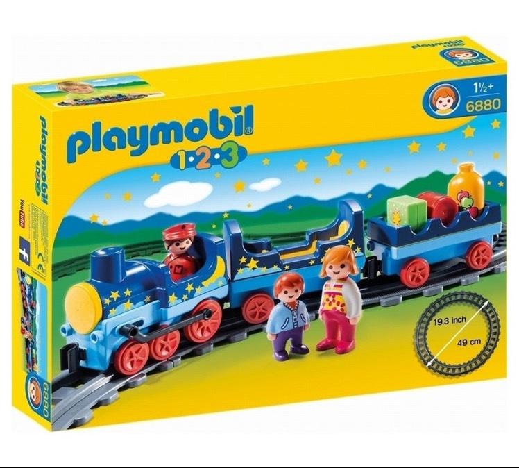 Playmobil 123 6880 Night train with track - Argos £9.99