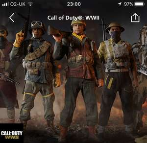 Free Call of duty WW2 content with o2 priority XBONE & PS4