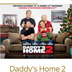Free Tickets Available Via Sky VIP App - Daddy's Home 2