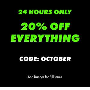Everything 20% off at asos with code October  including sale