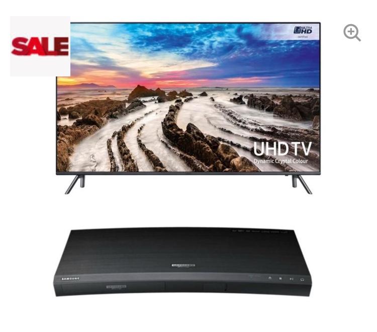 "SAMSUNG UE55MU7070 55"" Smart 4K Ultra HD HDR LED TV & 4K Ultra HD 3D Blu-ray Player Bundle £949 - Currys"