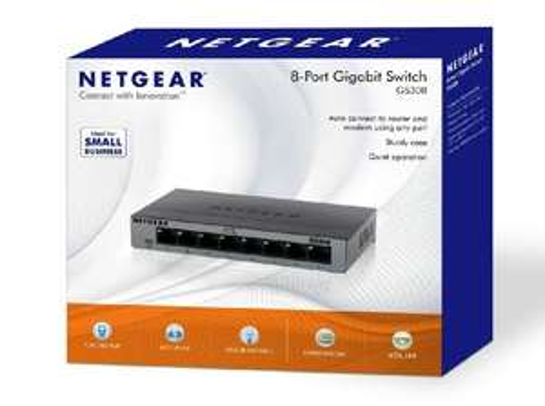NETGEAR GS308-100UKS 8 Port Gigabit Ethernet Desktop/Wallmount Switch £15.29  (Prime) / £20.04 (non Prime) at Amazon