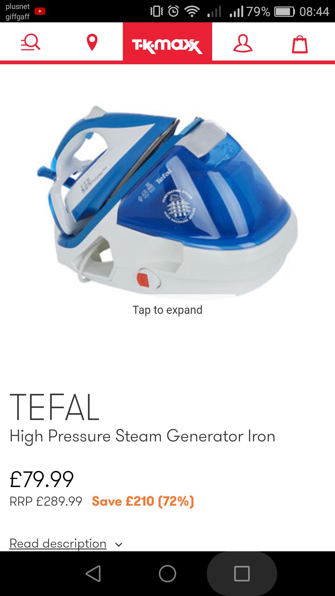 Tefal steam generator iron £79.99 originally £289.99 @ TkMaxx