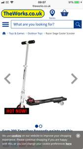 Razor siege castor scooter £28 use code payday30 at The Works