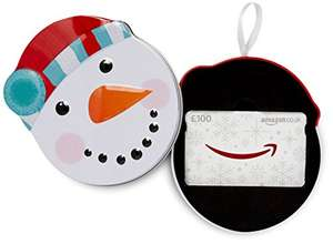 New For This Year - Snowman Gift Box (Tin) Free With Amazon Gift Card (From £20) @ Amazon