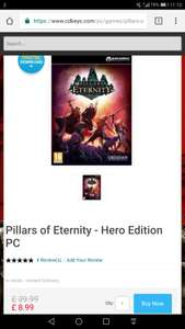 Pillars of Eternity - Hero Edition PC  - Steam Key - £8.99 @ CDKeys