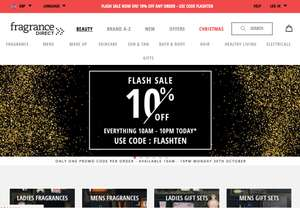 Fragrance Direct Flash Sale: 10% off any order with code FLASH10.