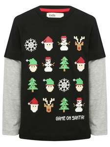 Edit 17/11 New code - 25% Off ALL Full Price Items inc Character Shop / Christmas PLUS FREE Worldwide Delivery with code @ M&Co eg Christmas Gamer Mock Sleeve T-Shirt was from £6 + Del now from £4.50 Delivered