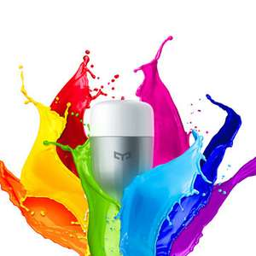 Original Xiaomi Mi Yeelight 9W RGB E27 LED Wireless WIFI Control Smart Light Lamp Bulb AC220V £10.09 @ banggood