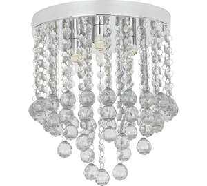 HOME Faith 3 Light Beaded Droplet Flush Ceiling Fitting was £32.99 now £16.49 C+C @ Argos + more in OP (Similar Black Version £8.99 Del at Argos Ebay)