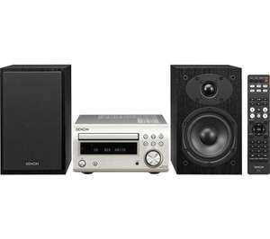 DENON DM-41DAB Bluetooth Micro System (Silver) with SC M41 speakers £299.99 @ Currys