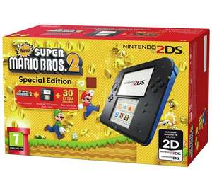 Nintendo 2DS Console Bundle with Super Mario Bros 2 OR Mario Kart OR Tomodachi Life + Choice of 1 of 8 games - £79.99 @ Argos
