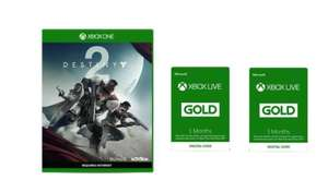 Xbox Live 6 month + Destiny 2 Gamer Bundle £17.98 @ Microsoft