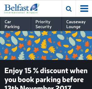 15% off Parking at Belfast International Airport