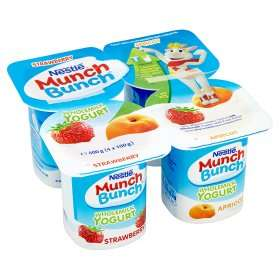 Munch Bunch Strawberry & Apricot Yogurts 50p instore and online @ Asda