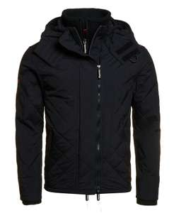 40% Superdry Quilted Hooded Polar Windcheater Jacket Black £47.99 @ eBay official Superdry store