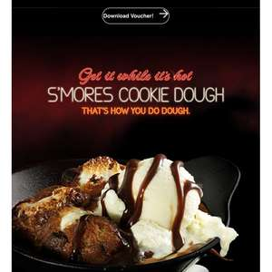 Received email for a free cookie dough with every adult main meal - Pizza Hut