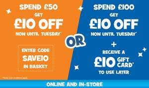 Toys r us £10 off £50 spend