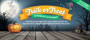 Extra £2.50 cashback from TopCashback - Valid on Halloween only