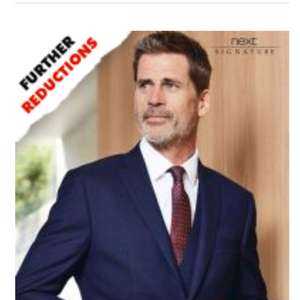 Next further reductions on suits from £15 free delivery to store