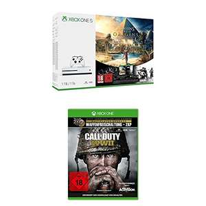 Xbox One S 500GB Assassins's Creed Origins Bundle + Call of Duty: WWII PREORDER £219.6 @ amazon.de