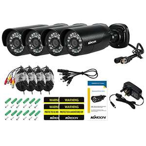KKmoon 4pcs CCTV Camera Kit Outdoor/indoor - Only £38.99 with promotion - Sold by Feeego and Fulfilled by Amazon