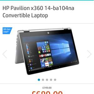 "14"" 2-in-1 laptop for £689 at HP Student store"