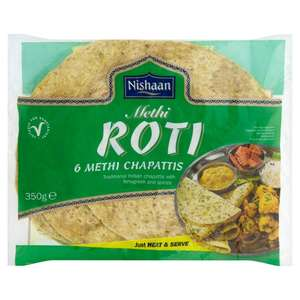 morrisons deal - nishaan methi roti : 6-pack methi chapattis - 75p reduced from £1.06