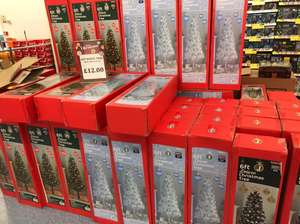 6ft white, black or green deluxe Christmas tree - £12 at B&M