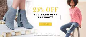asda george 25% off adult knitwear and boots online exclusive deal 268 items under offer