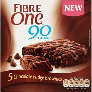 Fibre One 90 Calorie Chocolate Fudge Brownies (5 Pack x 24g) was £2.89 now £1.50 (Rollback Deal) @ Asda