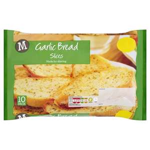 morrisons in store and online garlic bread slices buy 2 packs for £1.00 priced at a pound a pack