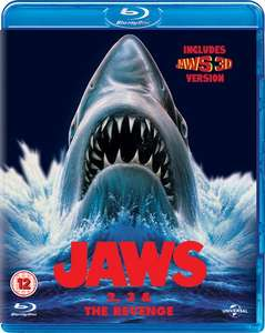 Jaws 2, Jaws 3 (3D) Jaws: The revenge Blu Ray £9 using code @ Zoom