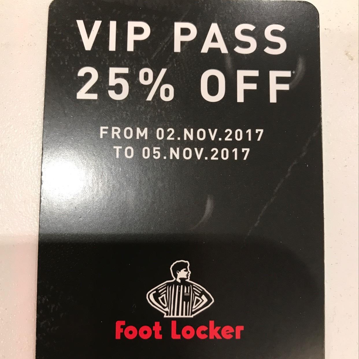 25% off @ Footlocker 2nd Nov - 5th Nov
