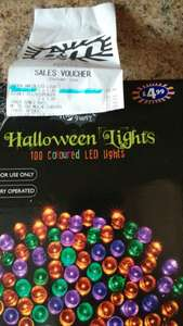 B&M instore Halloween sale e.g 100 Halloween fairy lights were £4.99 now £1.49