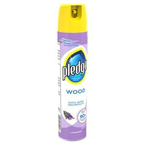 Pledge Lavender Wood, Aerosol Furniture Polish X4 £1.40 ADD ON Amazon