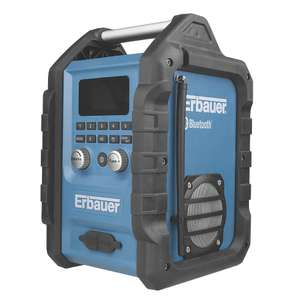 ERBAUER ERB661RDI AM / FM BLUETOOTH SITE RADIO 230-240V £69.99 @ Screwfix