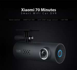 Xiaomi 70 Minutes Smart WiFi Car DVR - Voice Control / 1080P Full HD Camera with SONY IMX323 Image Sensor / 130 Degrees FOV / Loop-cycle Recording £30.56 w/code @ Gearbest