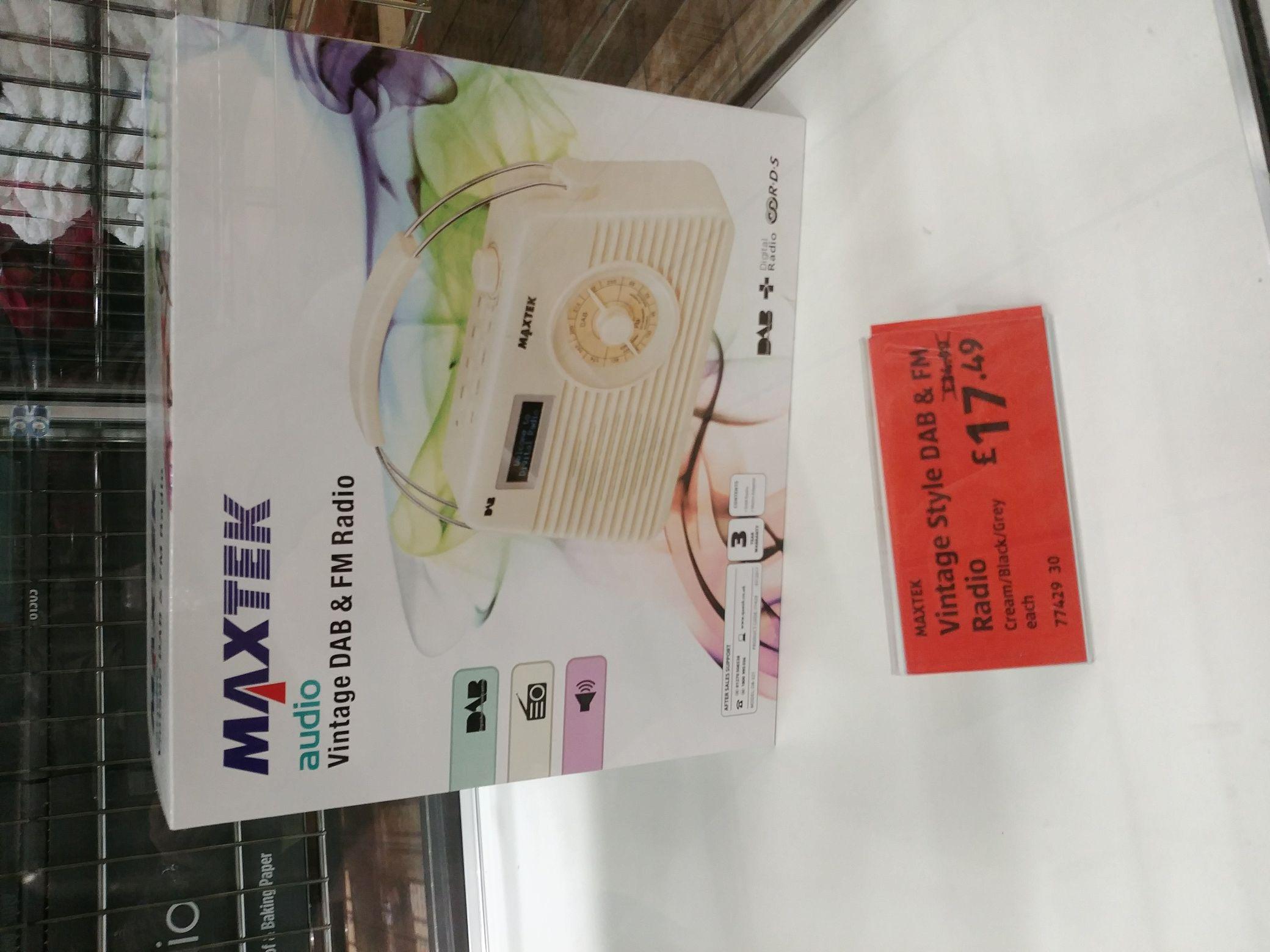 Maxtek DAB RADIO £17.47 @ Aldi instore