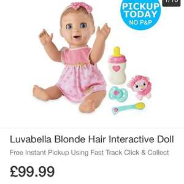 Luvabella doll £99.99 Argos (EBAY)