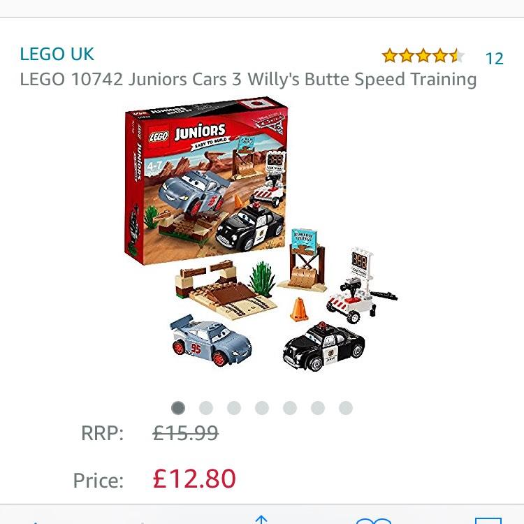 Lego juniors cars 3 £12.80 prime / £16.79 non prime @ Amazon