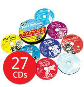 The World of David Walliams: Bumper-tastic CD Story Collection - 27 CDs £16 delivered with code AFCONKER or AFPUMPKIN @ The Book People [Mr Stink / Billionaire Boy / Gangsta Granny / Demon Dentist/ Grandpa's Great Escape /Ratburger / Boy / Awful Aunt
