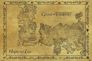 Game Of Thrones: Antique look Westeros Map Poster £3.72 delivered @ EMP