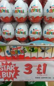 3 x Kinder Eggs £1 @ Fultons (39p Each)