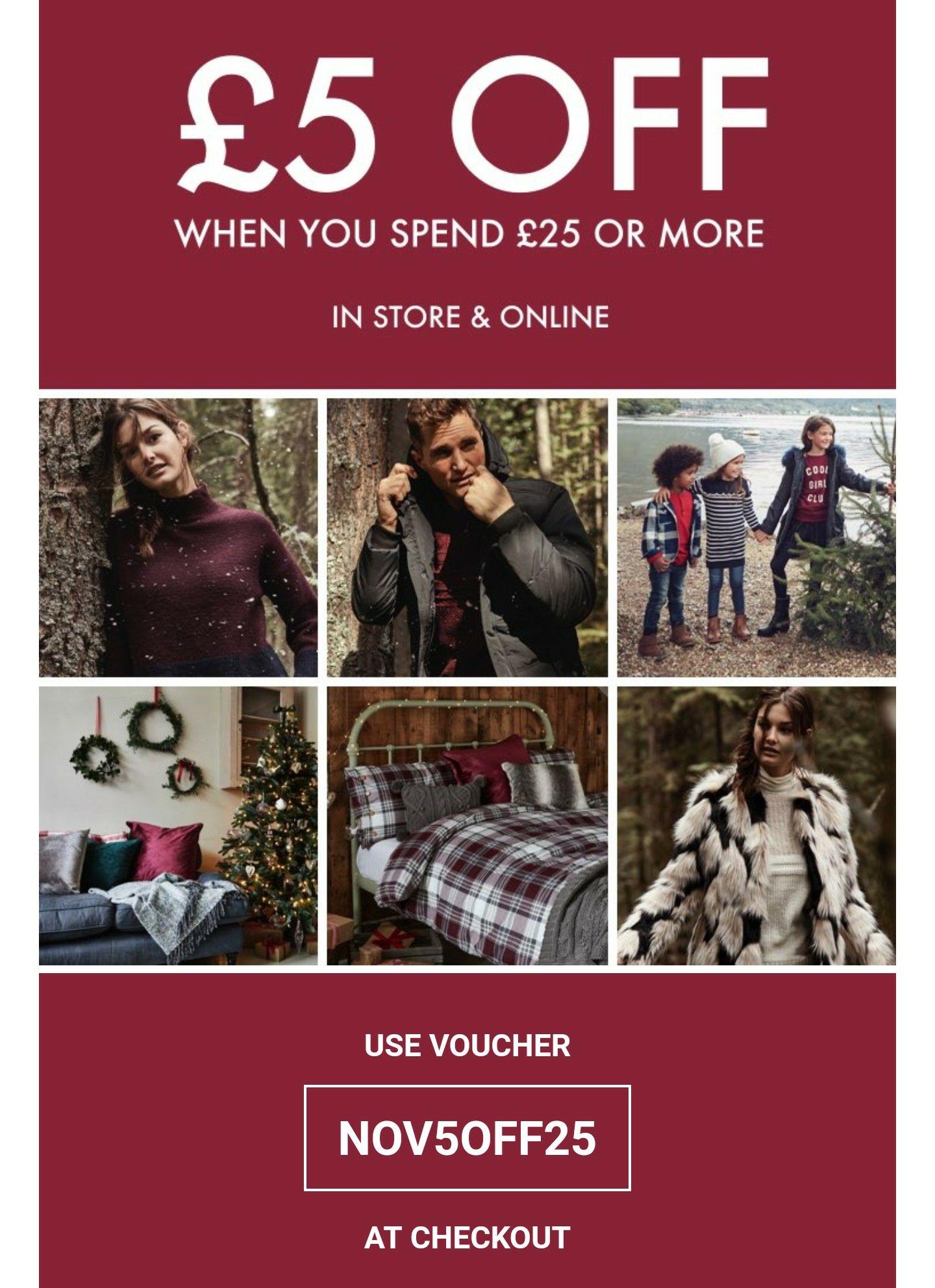 £5 off £25 @ Matalan using Metro voucher, NOV5OFF25 online code