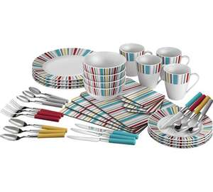 ColourMatch 40 Piece Porcelain Dinner Starter Set now £23.99 @ Argos